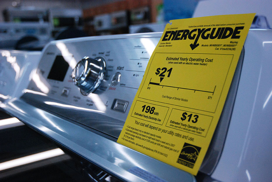 What does an EnergyGuide label tell you?